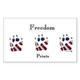 Freedom Prints Rectangle Decal
