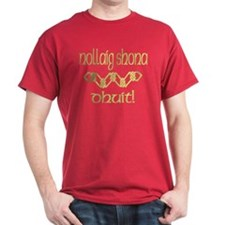 Gaelic Greetings in Gold T-Shirt