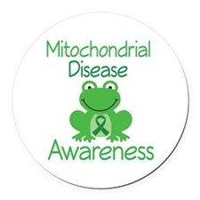 Mito Awareness Frog Round Car Magnet