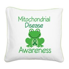 Mito Awareness Frog Square Canvas Pillow
