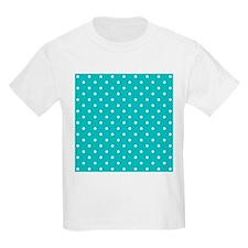 Teal dot pattern. T-Shirt