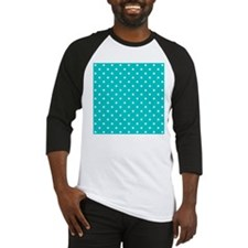 Teal dot pattern. Baseball Jersey