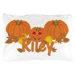 Halloween Pumpkin Riley Pillow Case