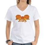 Halloween Pumpkin Riley Women's V-Neck T-Shirt