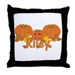 Halloween Pumpkin Riley Throw Pillow