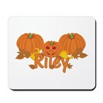 Halloween Pumpkin Riley Mousepad