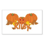 Halloween Pumpkin Riley Sticker (Rectangle)