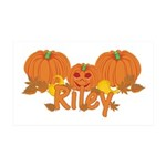 Halloween Pumpkin Riley 35x21 Wall Decal
