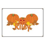 Halloween Pumpkin Riley Banner