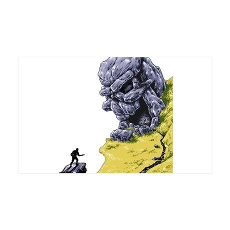 Disc Golf SKULL CAVE 35x21 Wall Decal