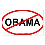 NOBAMA Oval Bumper Decal for Sale Decal