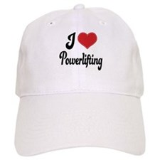 I Love Powerlifting Baseball Cap