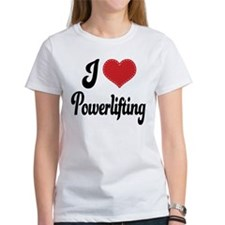 I Love Powerlifting Tee