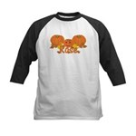Halloween Pumpkin Rose Kids Baseball Jersey