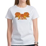 Halloween Pumpkin Rose Women's T-Shirt