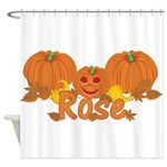 Halloween Pumpkin Rose Shower Curtain