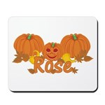 Halloween Pumpkin Rose Mousepad