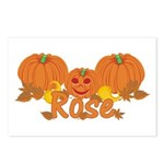 Halloween Pumpkin Rose Postcards (Package of 8)