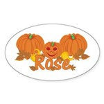 Halloween Pumpkin Rose Sticker (Oval)