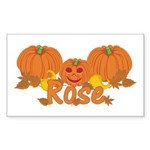 Halloween Pumpkin Rose Sticker (Rectangle)
