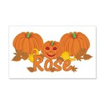 Halloween Pumpkin Rose 20x12 Wall Decal