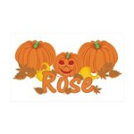 Halloween Pumpkin Rose 35x21 Wall Decal