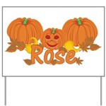 Halloween Pumpkin Rose Yard Sign