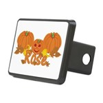 Halloween Pumpkin Rose Rectangular Hitch Cover
