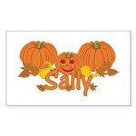 Halloween Pumpkin Sally Sticker (Rectangle)