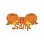 Halloween Pumpkin Sally 35x21 Wall Decal