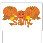 Halloween Pumpkin Sally Yard Sign