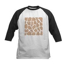 Beige Giraffe Print Pattern. Tee