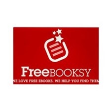 Red Freebooksy Rectangle Magnet