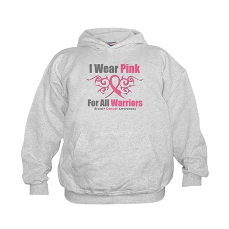 Pink Ribbon Tribal - Warriors Kids Hoodie