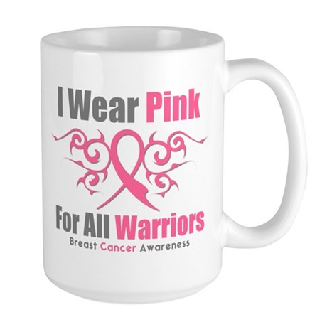 Pink Ribbon Tribal - Warriors Large Mug