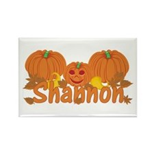 Halloween Pumpkin Shannon Rectangle Magnet