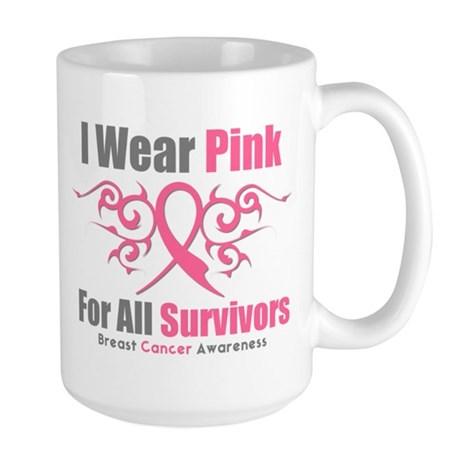 Pink Ribbon Tribal - Survivors Large Mug