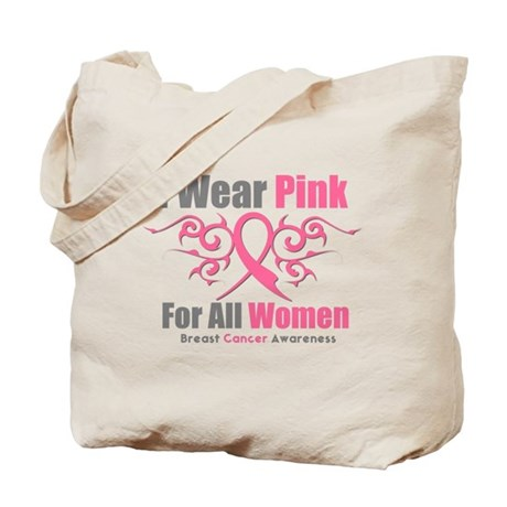 Pink Ribbon Tribal - Women Tote Bag