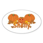 Halloween Pumpkin Shelly Sticker (Oval)