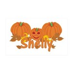 Halloween Pumpkin Shelly 35x21 Wall Decal