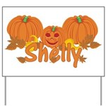Halloween Pumpkin Shelly Yard Sign