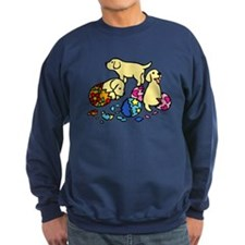 Three Yellow Lab Puppies Sweatshirt