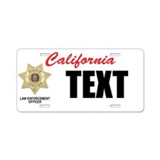 California Police Officer Custom License Plate