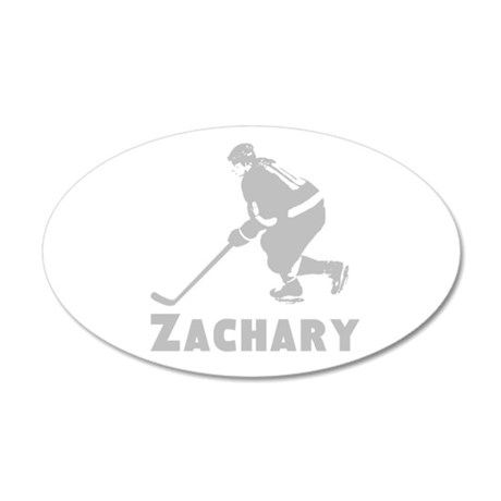 Personalized Hockey 20x12 Oval Wall Decal