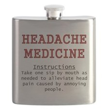 Headache Medicine Flask