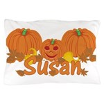 Halloween Pumpkin Susan Pillow Case