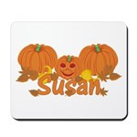 Halloween Pumpkin Susan Mousepad