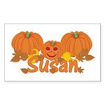Halloween Pumpkin Susan Sticker (Rectangle)