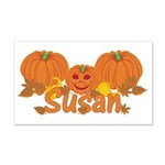 Halloween Pumpkin Susan 20x12 Wall Decal