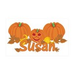Halloween Pumpkin Susan 35x21 Wall Decal